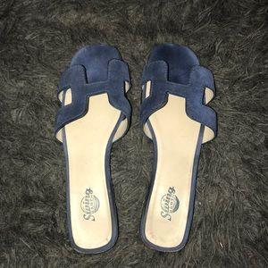 Royal blue H sandals